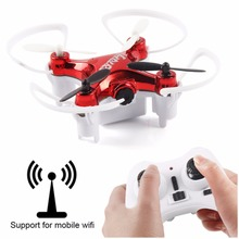 Mini L7R WiFi Real-time 0.3MP FPV Camera RC Quadcopter with Set Height Mode Headless Mode Red+ 3D VR Glasses