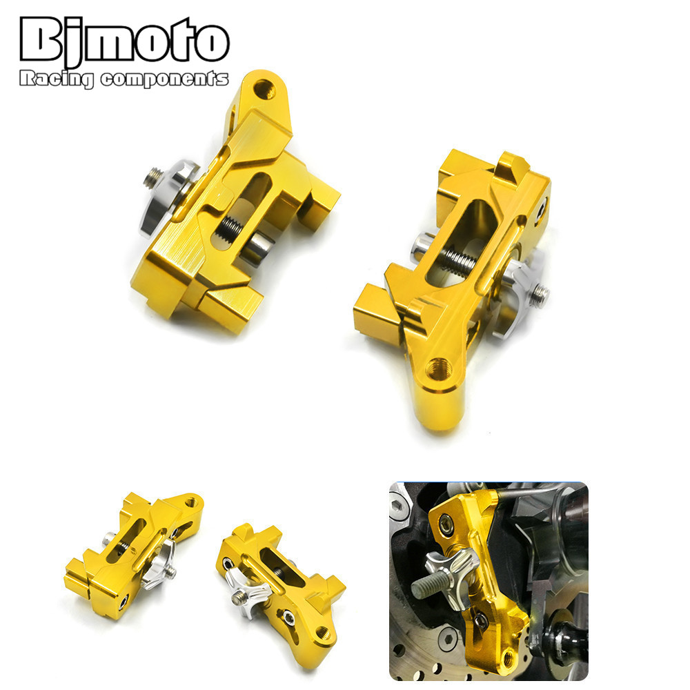 CA-YA003 Pair MT07 Motorcycle CNC Aluminum Rear Axle Spindle Chain Adjuster Blocks for Yamaha MT-07 2013-2016 FZ-07 2015-2016