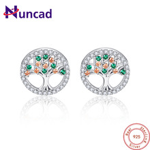 NUNCAD Women Fashion 925 Sterling Silver Earrings Lovely Tree Of Life Earrings Brincos Oorbellen Jewellery Accessories