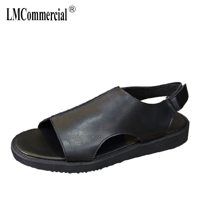 summer Genuine leather mens sandals Sneakers Men Slippers Flip Flops casual Shoes beach outdoor men Roman all-match cowhide