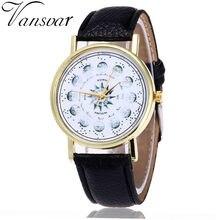 53b2866b6a1 Vansvar Cor Relógio Masculino E Feminino Strap Relógio de Pulso Relógios  Relogio Reloj De Mulheres Barato