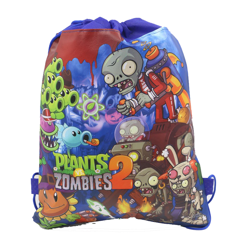 Plants vs Zombies Kid/'s Drawstring Backpack School Bag,Party bag Gift UK