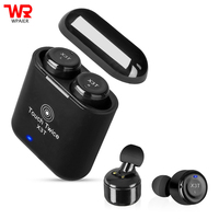 WPAIER X3T Touch Control Wireless Bluetooth headphones portable mini Subwoofer headset with charge box universal HIFI earphones
