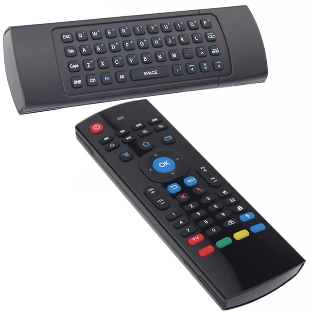 Mini Portable 2.4 GHz Wireless Flying Air Mouse and Qwerty Keyboard for Android Smart TV Box Windows Mac Linux iOS PC Laptop