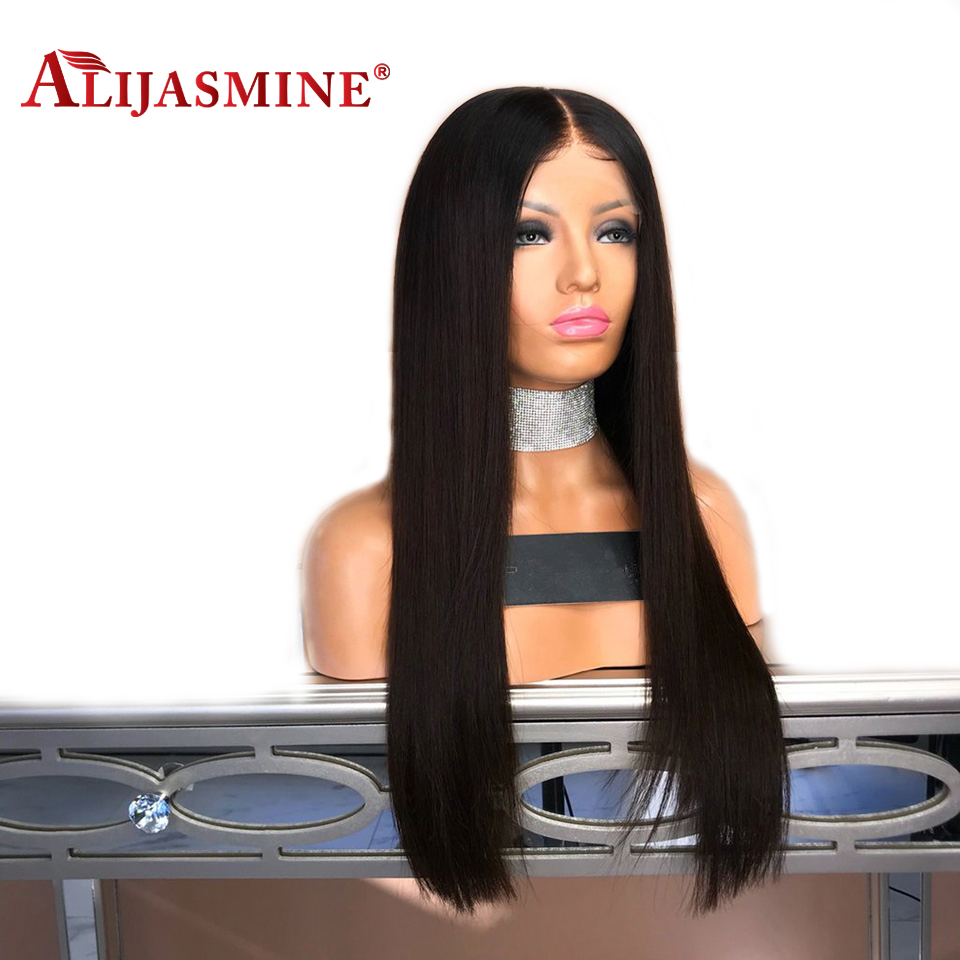 Human Hair Lace Wigs Alijasmine 180% Straight Lace Front Human Hair Wigs With Baby Hair Malaysian Remy Hair Wigs For Women Pre Plucked Bleached Knots At All Costs