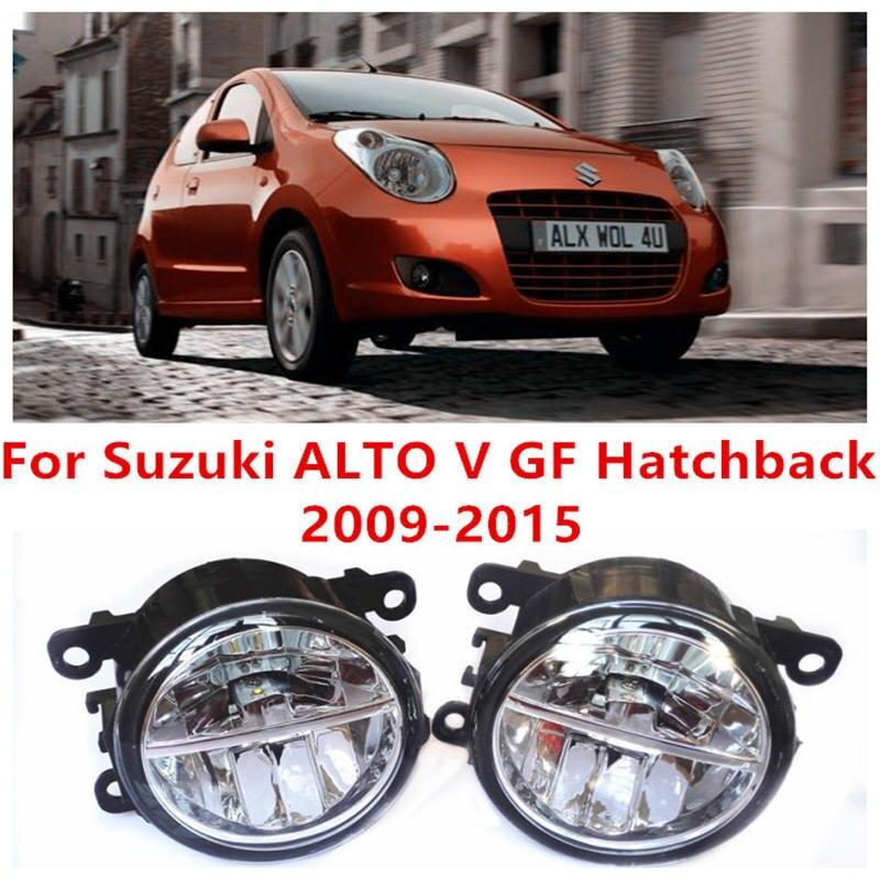 ФОТО For Suzuki ALTO V GF Hatchback  2009-2015 Fog Lamps LED Car Styling 10W Yellow White 2016 new lights
