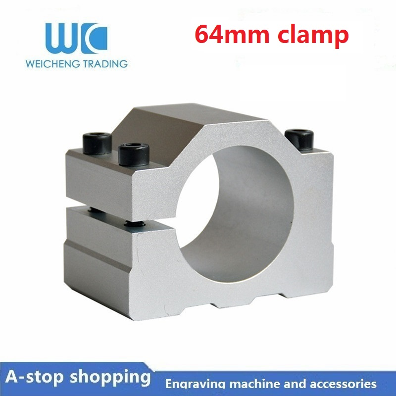 1pc 64mm Spindle Clamp 64mm Diameter Mount Bracket for Spindle Motor Machine1pc 64mm Spindle Clamp 64mm Diameter Mount Bracket for Spindle Motor Machine