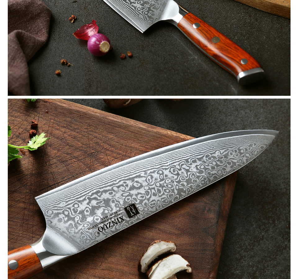 HTB1Oy1ZaZ vK1RkSmRyq6xwupXa6 - 8.5 inch Chef Knives High Carbon VG10 Japanese 67layer Damascus Kitchen Knife Stainless Steel