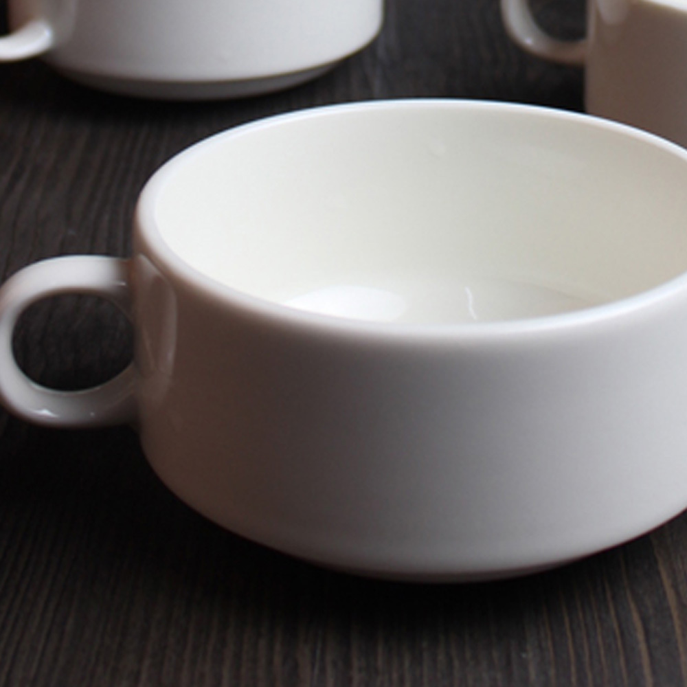 Excellent Inspiring White Soup Bowls With Handles Images - Best Image Engine  IL09