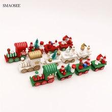 Santa Snowman Bear Decor Wood Train