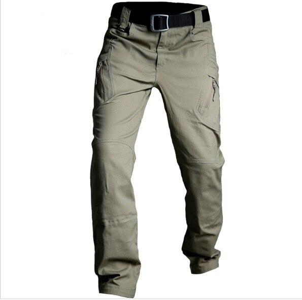 Pantaloni Uomo Combat Cargo di Cotone con Elastico in Vita