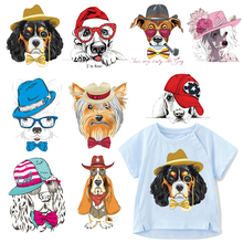 Cute Dog Patch Iron on Transfer Cartoon Animals Patches for Clothing DIY T-shirt Badges Stickers Applique on Clothes Heat Press zotoone fashion puppy iron on transfer patch for clothing cartoon animals decors on t shirt applications clothes diy accessories