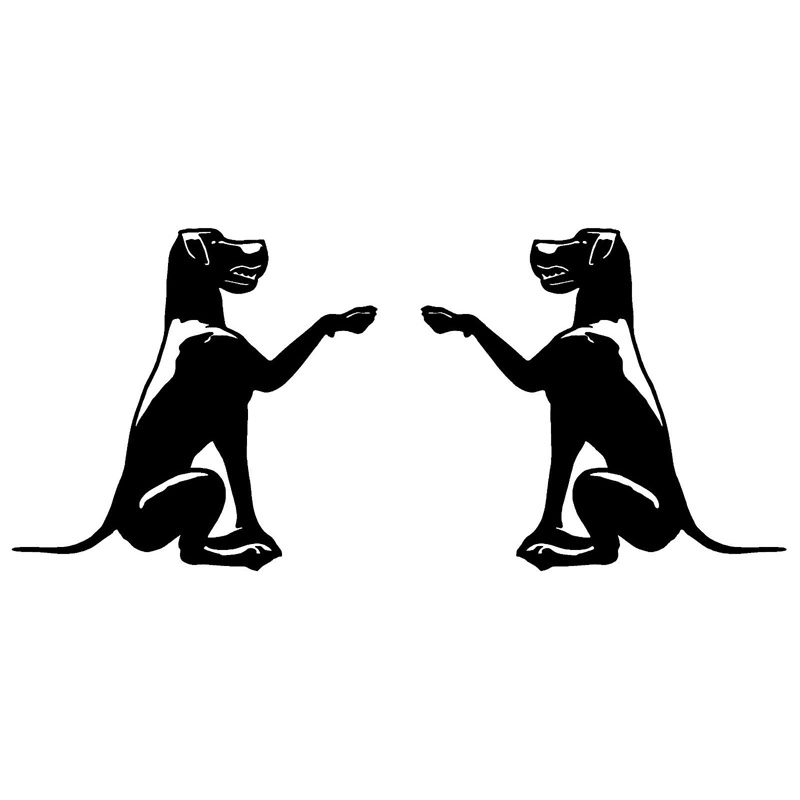 12.7*12CM GREAT DANE Dog LEFT & RIGHT Vinyl Decals Car Sticker Funny Animal Rearview Mirror Decorative Stickers C6-1853