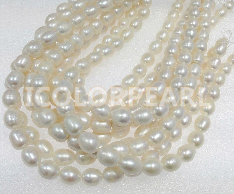 WEICOLOR meilleur cadeau pour les mères! 43-46 cm grand 10-13mm goutte d'eau collier de perles d'eau douce blanche avec fermoir aimant fort. - 3