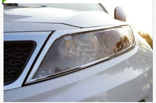 chrome head light lamp cover trim for Kia Optima K5 2011 2012 2013 free shipping oem part for kia optima k5 fog lamp set light set 2011 2013