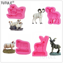Highly Detailed Little Sheep Shape Mold Soft Candy Chocolate  Cake Decoration Tool,Goat silicone mold Easter