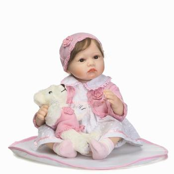55cm Silicone Reborn Baby Doll Toys For Girl 22inch Lifelike Reborn Babies Play House Toy Kids Child Birthday Gift Brinquedos