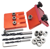 New Aluminium Alloy Wood Precise Position And Drilling Self Centering Dowel Jig Master Kit For 6mm