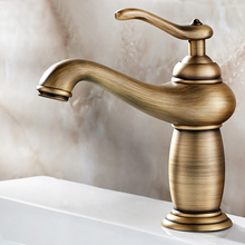 Antique Brass Faucet Single Lever Bathroom Vessel Sink Tap Deck Mounted Lavatory sink Mixer Basin Tap KD1186