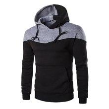 New Fashion Winter Hoodies Men Sudaderas Hombre Hip Hop Mens Hoodie Decorative Pocket Patchwork Sweatshirt#6128