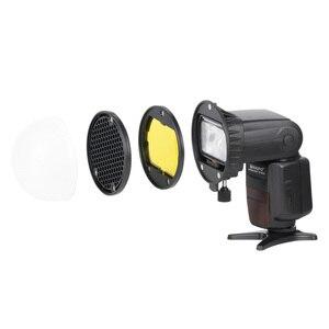 Image 3 - TRIOPO MagDome couleur filtre, réflecteur, nid dabeille, diffuseur boule Kits pour GODOX tt600 TT685 V860II YN560III/IV Flash VS AK R1
