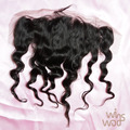 WoWigs Hair Brazilian Wavy Hair Loose Wave 13*4 Top Lace Frontal, Virgin Brazilian Hair Loose Curl Frontal