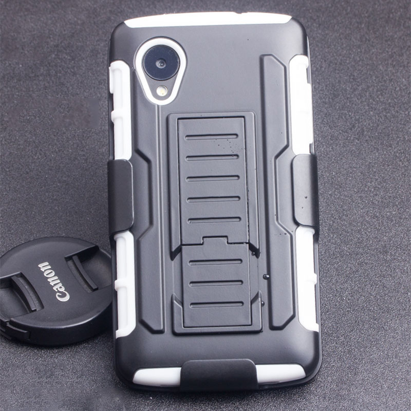 new styles 95ea7 8a6ce Armor LG Google Nexus 5 Heavy Duty Holster Shockproof Hybrid Hard LG Nexus  4 5 D820 Phone Cases Cover