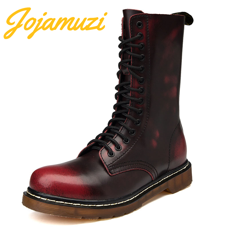 Lovers Brand Motorcycle Boots Work Shoes Men Winter High Top Combat Boots Men Leather For Men