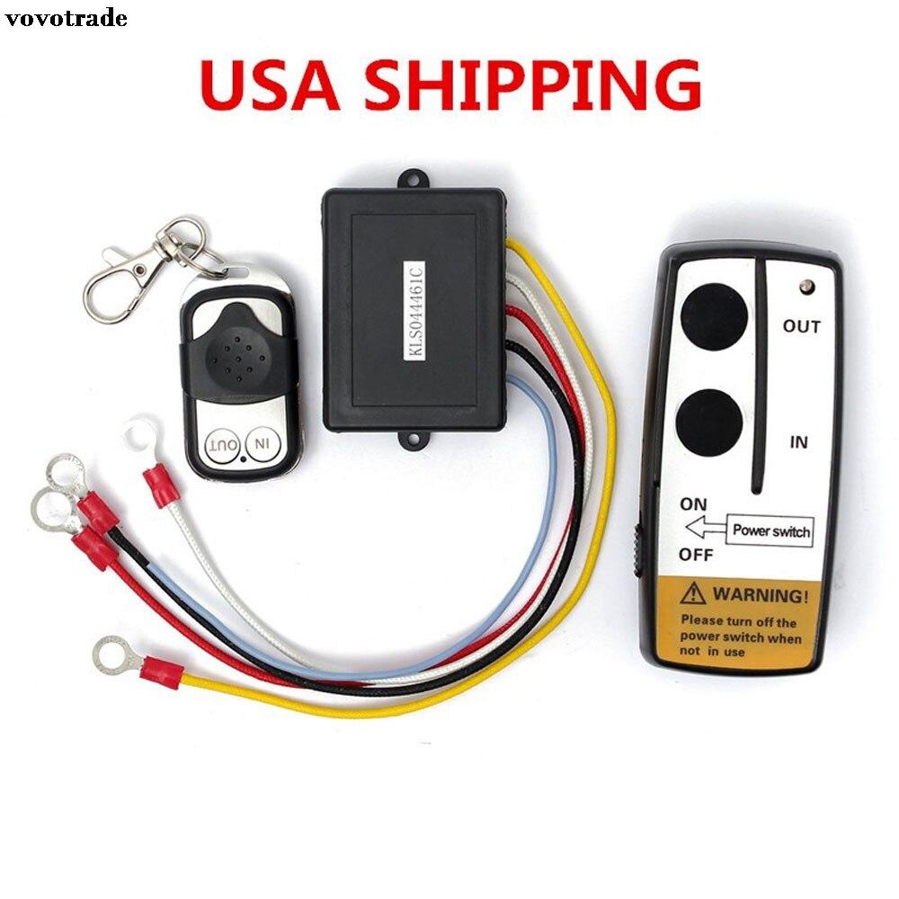 vovotrade Electric Wireless Winch Remote Control Handset 12V Heavy Duty For Truck ATV SUV Drop Shipping