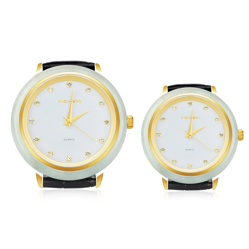 2020 Top Fashion New Jade Watch Insert Gold Automatic Quartz High-end Flywheel Dermal Pointer Type