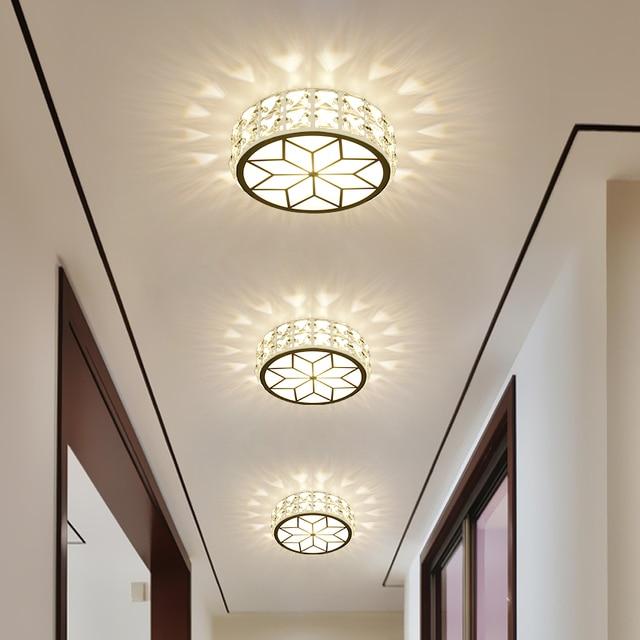L mpara de cristal led l mparas de techo pasillo puerta de - Lamparas para pasillos casa ...