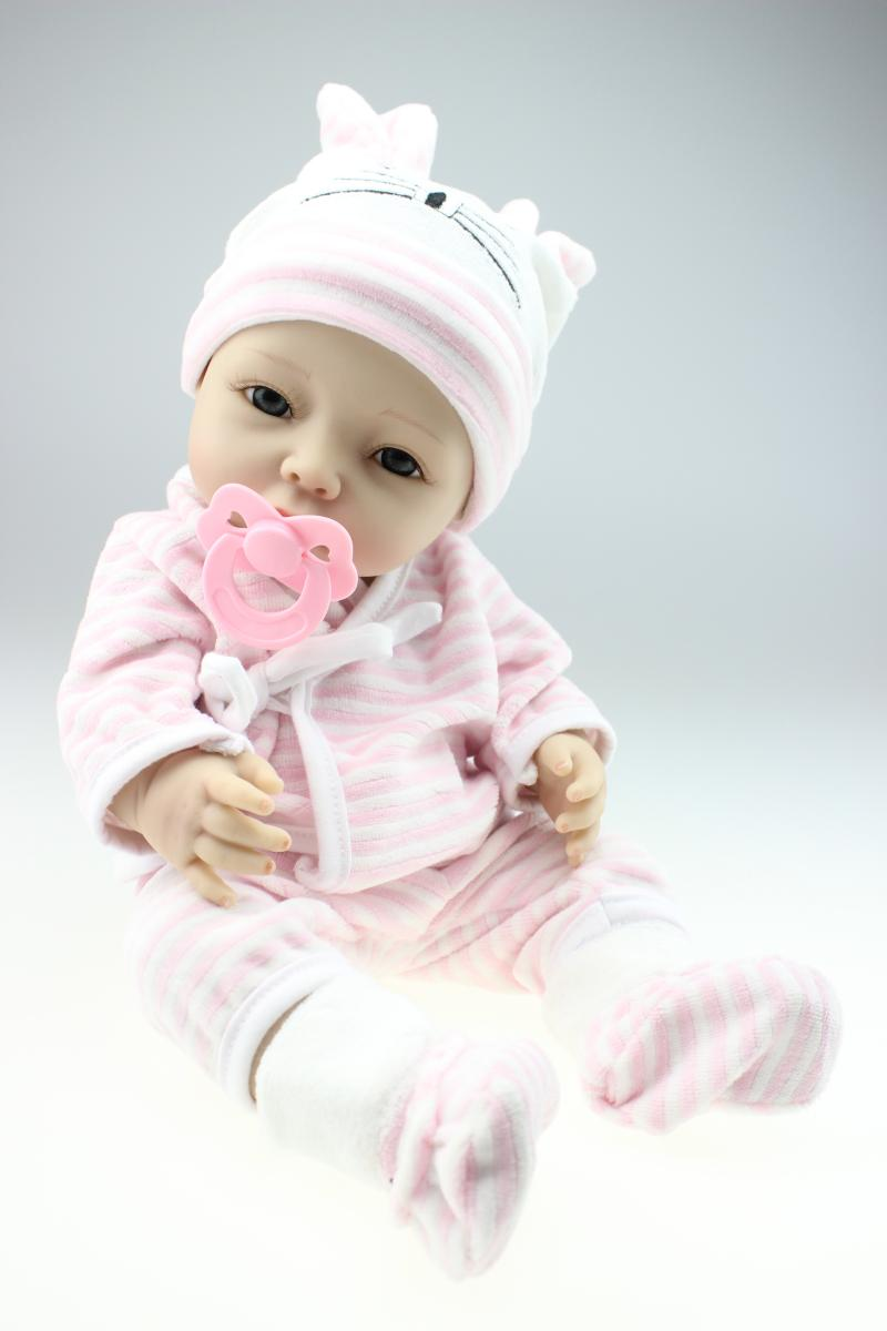 40cm Full Silicone Bebe Reborn Baby Girl Dolls Lifelike Newborn Babies Alive Doll for Child Bath Shower Bedtime Toy Doll new full silicone reborn dolls in pink clothes 20 lifelike newborn girl baby doll reborn for kids bath shower bedtime play toy