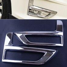 DWCX 2 pz ABS Cromato Anteriore Nebbia Copertura Della Lampada Della Luce Trim Telaio Sticker fit per Nissan Rogue XTrail 2017- 2018 Facelift modello