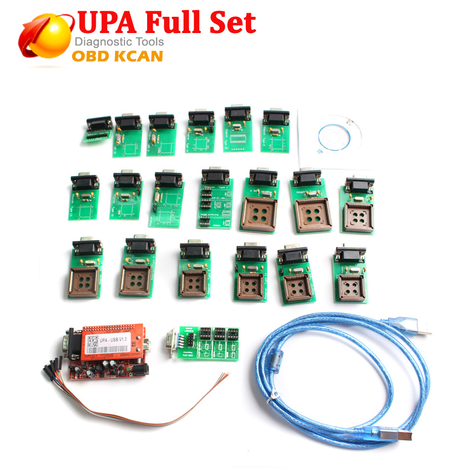 UPA 2018 New Arrival UPA Usb Programmer Diagnostic tool UPA USB ECU Programmer UPA USB V1.3 With Full Adapter In Stock Now-in Air Bag Scan Tools & Simulators from Automobiles & Motorcycles