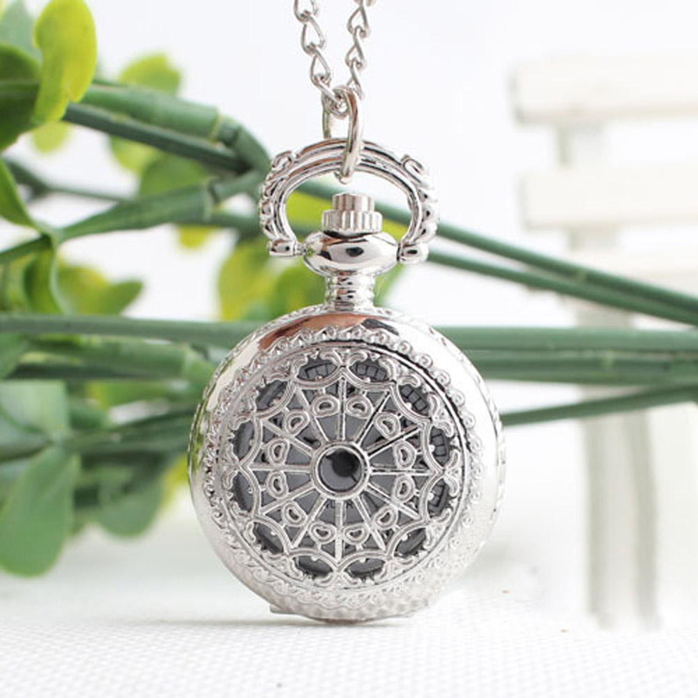 Retro Small Size Spider Webs Pocket Watch/Watch Necklace Fashion Jewelry Pendant Watch Necklace 88  TT@88