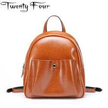 Двадцать четыре женские рюкзаки натуральная кожа Женская дорожная сумка для девочек большой Ёмкость рюкзак Ruched Mochila Bolsa Кнопка жирной