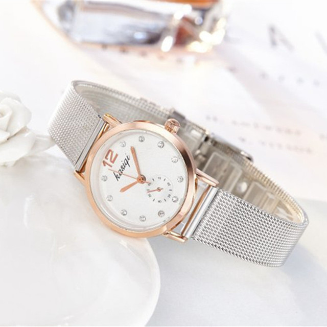Stainless Steel Rhinestone Couple Watch Set 4
