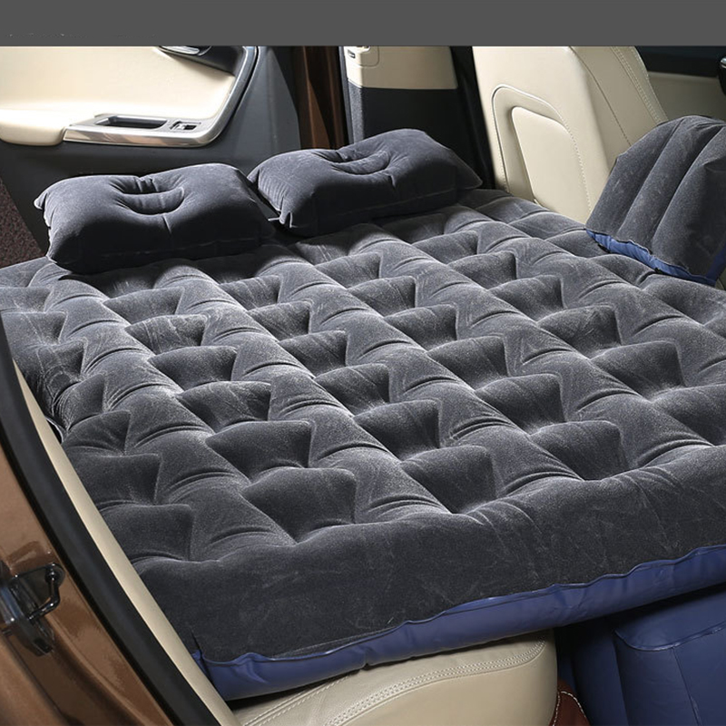 New Car Back Seat Cover Car Air Mattress Travel Bed Inflatable Mattress Air Bed Good Quality Inflatable Car Bed full set car inflatable mattress car shock bed on board flocking inflatable bed separate type air cushion bed car split car bed