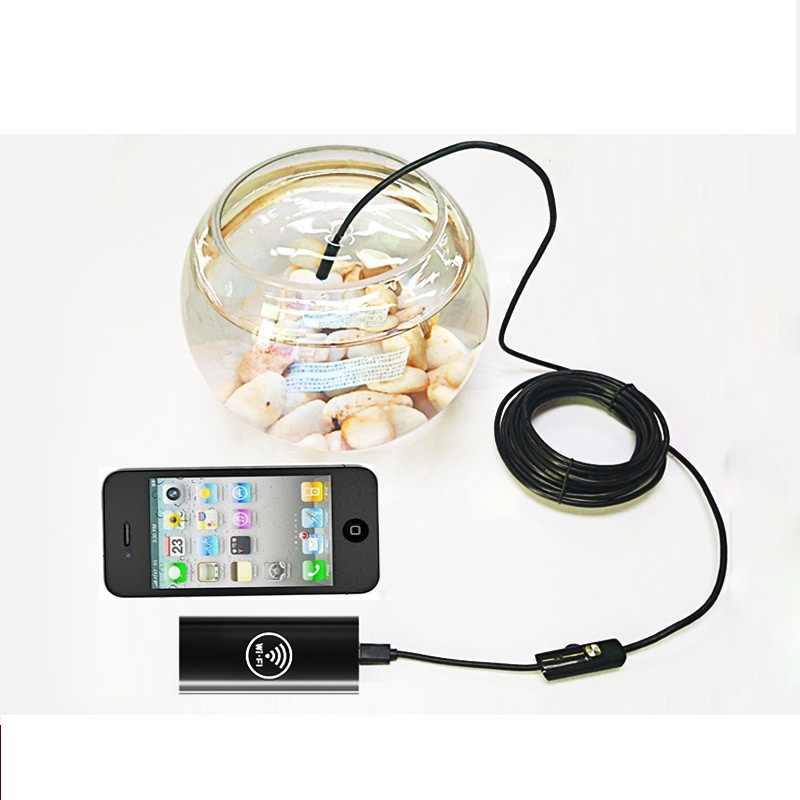 Impermeable LED Mini WIFI cámara USB endoscopio alambre serpiente tubo inspección boroscopio para Android Smartphone PC Cámara