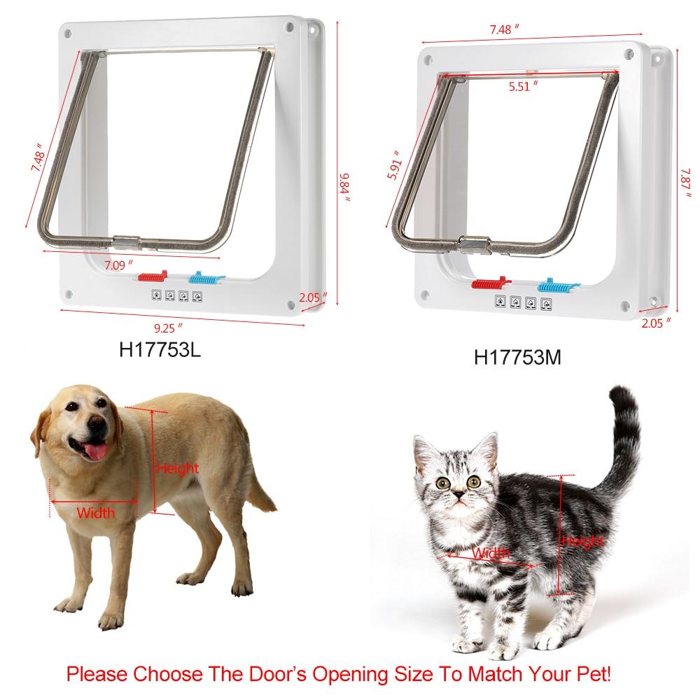 controllable access openings 4 way locking indoor outdoor pet door