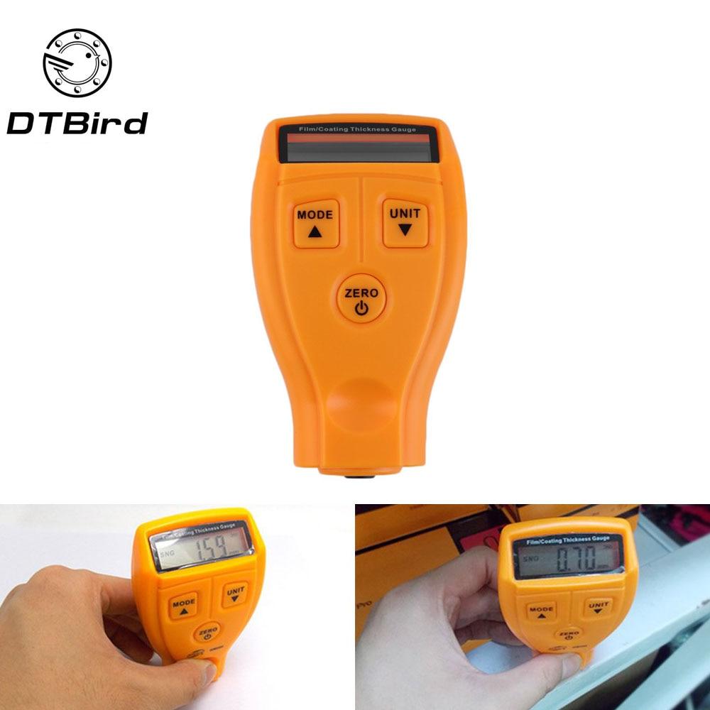 GM200 medidor de espesor de pintura y barniz y revestimiento de pintura indicadores de medición revestimiento pintura probador de película. DT6