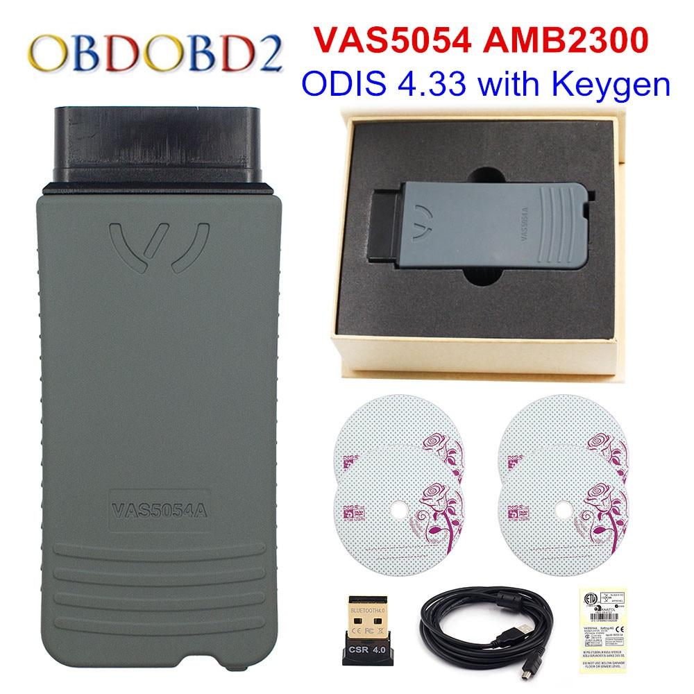 Original OKI VAS 5054A ODIS V4.3.3 Keygen Bluetooth AMB2300 VAS 6154 WIFI VAS5054A Full Chip VAS5054 UDS For VAG Diagnostic Tool vas 5054a diagnostic tool odis v3 0 3 bluetooth support uds protocol vas5054a vas5054 with oki full chip free shipping