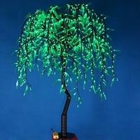 Бесплатная доставка 1,2 м 4ft высота светодио дный Willow Tree Light 336 шт. светодио дный s зеленый цвет непромокаемые открытый Рождество Новый год Свад