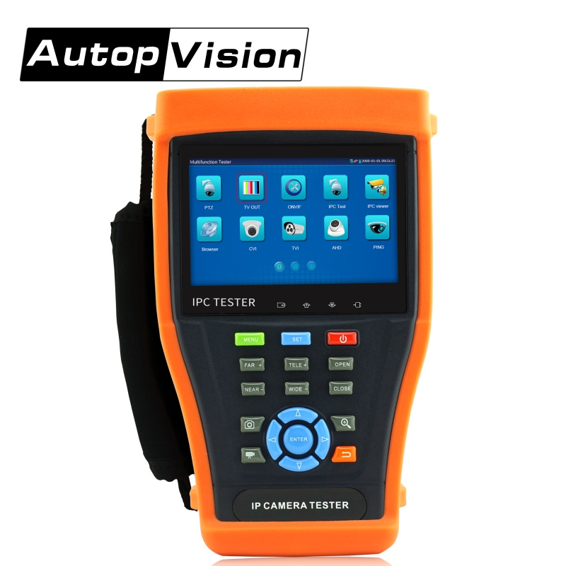 DHL Free Shipping IPC4300 CCTV Tester 4.3 Touch Screen IP Camera Tester Monitor POE HDMI Out/ Built-in WIFI CCTV TESTER