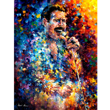 Hand Painted Landscape Abstract Freddy Mercury Palette Knife Modern Art Oil Painting Canvas Art Living Room Artwork Fine Art