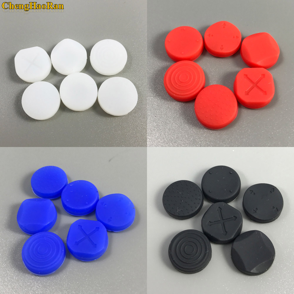 ChengHaoRan 4 color 1 set 6-in-1 Silicone Grip Analog Joystick Cap Cover For <font><b>Sony</b></font> <font><b>PS</b></font> <font><b>Vita</b></font> for PSV <font><b>Console</b></font> 1000 2000 Buttons image