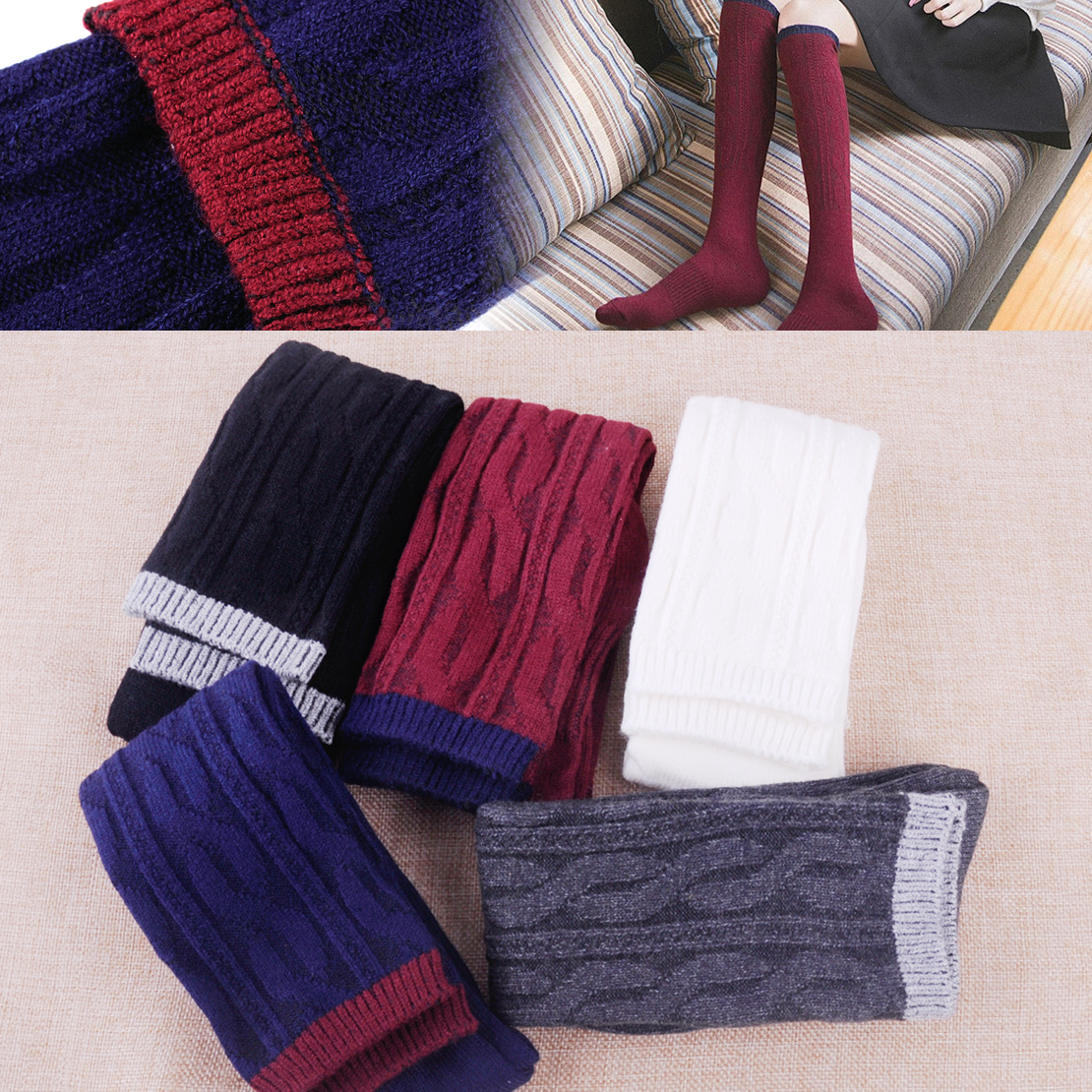 New Men Women Unisex Cotton Knee-High Long Solid Warm Thick Soft Comfort Boot Sock for winter Causal Dress Socks Wholesale