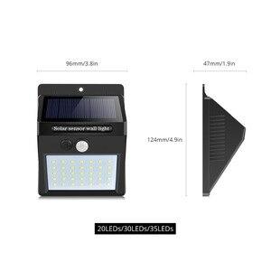 Image 2 - לילה אור 100 35 20 LED שמש מנורת גן PIR תנועת חיישן + אור חיישן שמש שליטת אור מנורת קיר חיצוני תאורה