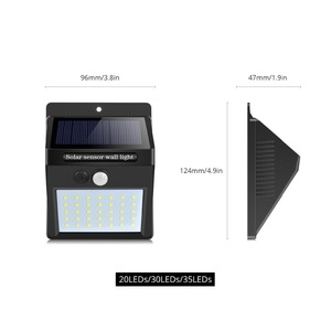 Image 2 - Night Light 100 35 20 LED พลังงานแสงอาทิตย์โคมไฟสวน PIR Motion Sensor + LIGHT Sensor ควบคุมโคมไฟติดผนังพลังงานแสงอาทิตย์โคมไฟกลางแจ้ง
