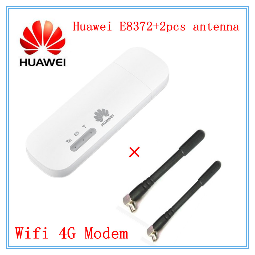 Unlocked Huawei E8372 ( plus a pair of antenna) LTE USB Wingle LTE Universal 4G USB WiFi Modem car wifi gadget